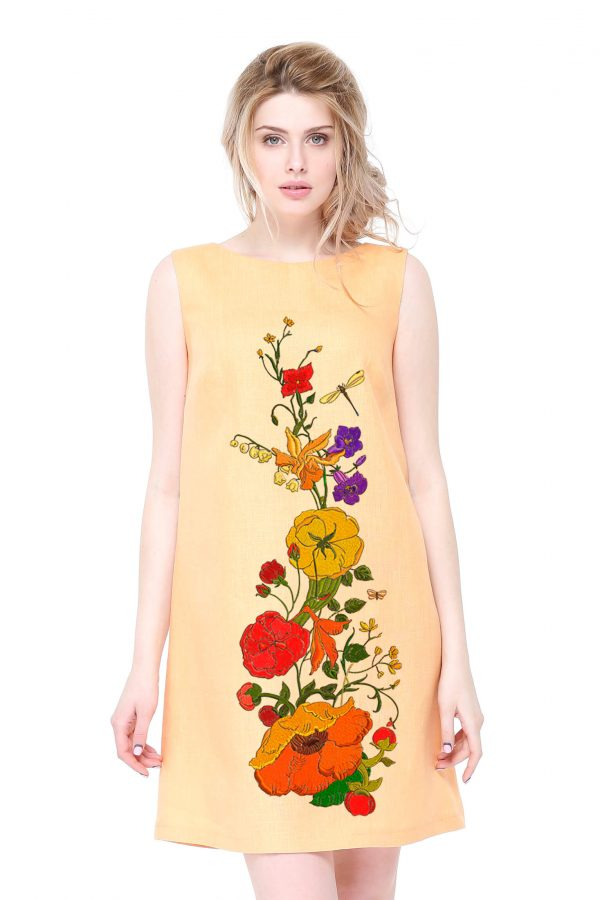 Фото 17 - Платье льняное базовое.