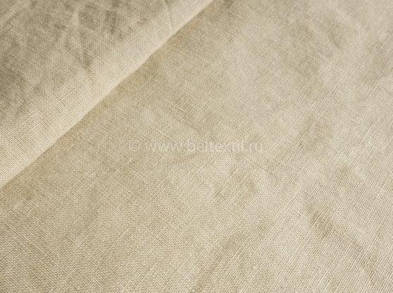 Фото 3 - Комплект постельного белья льняной умягченный бежевый.