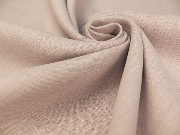 Фото 3 - Ткань льняная умягченная цвета пепельной розы.