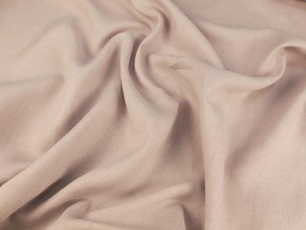 Фото 6 - Ткань льняная умягченная цвета пепельной розы.