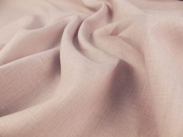 Фото 4 - Ткань льняная умягченная цвета пепельной розы.