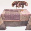 """Фото 6 - Комплект столовый """"Травы"""" цв. лиловый 155*175."""