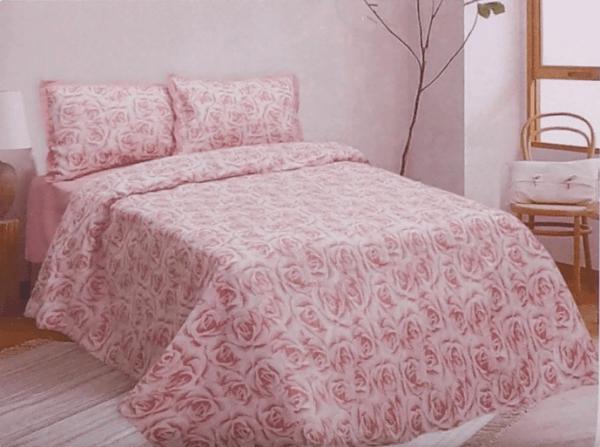 """Фото 3 - КПБ """"Розы"""", 2 спальный, цвет розовый."""