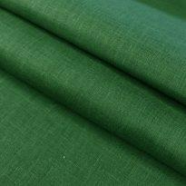 Фото 6 - Ткань льняная зеленая лен 100%.