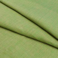 Фото 20 - Ткань зелено-бежевая меланжевая, лён 100%.