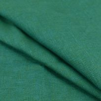 Фото 20 - Ткань льняная костюмная меланжевая  цвета морской волны.