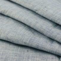 Фото 5 - Ткань синяя пестротканная, лён 100%.