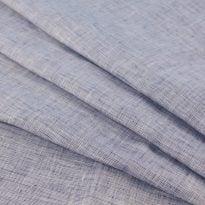 Фото 4 - Ткань темно-синяя пестротканная, лён 100%.