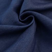 "Фото 20 - Ткань льняная ""вареная"" темно-синяя лен 100%."