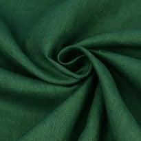 """Фото 10 - Ткань льняная """"вареная"""" темно-зеленая лен 100%."""