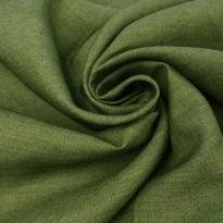 """Фото 9 - Ткань льняная """"вареная"""" зеленая лен 100%."""