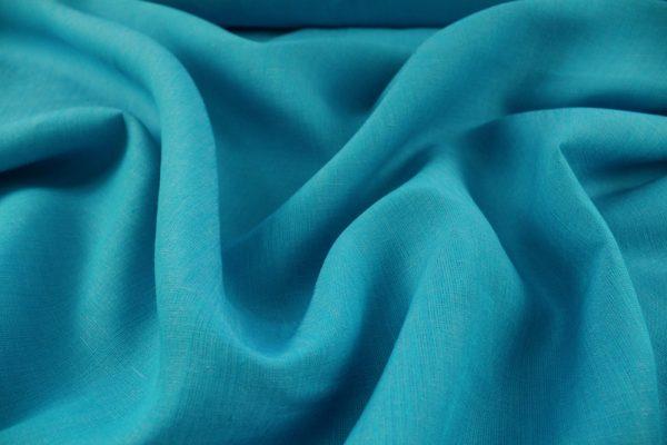 Фото 10 - Ткань льняная, ширина 260 см, лён 100 % бирюзовая меланжевая.