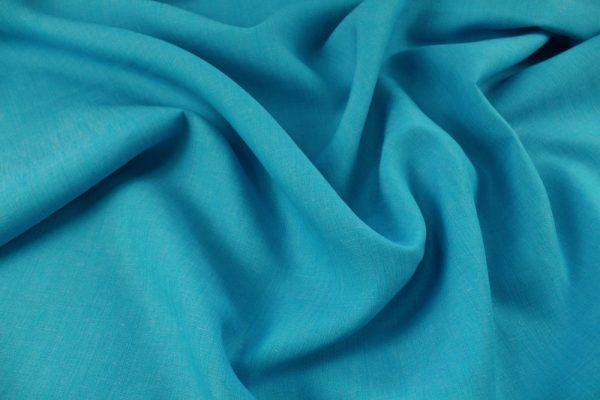 Фото 5 - Ткань льняная, ширина 260 см, лён 100 % бирюзовая меланжевая.