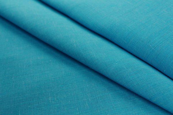 Фото 6 - Ткань льняная, ширина 260 см, лён 100 % бирюзовая меланжевая.