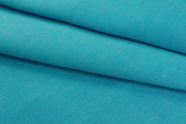 Фото 9 - Ткань льняная, ширина 260 см, лён 100 % бирюзовая меланжевая.