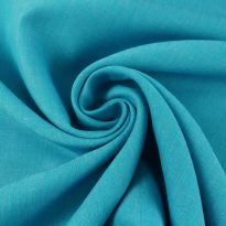 Фото 15 - Ткань льняная, ширина 260 см, лён 100 % бирюзовая меланжевая.