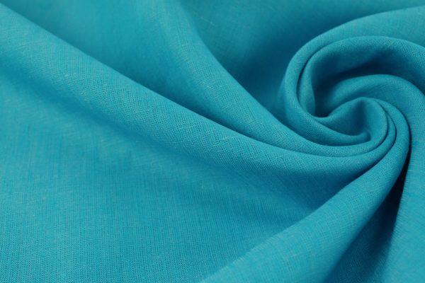 Фото 8 - Ткань льняная, ширина 260 см, лён 100 % бирюзовая меланжевая.