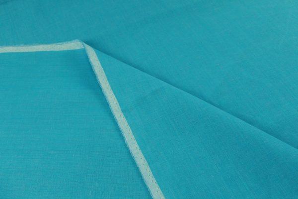 Фото 7 - Ткань льняная, ширина 260 см, лён 100 % бирюзовая меланжевая.