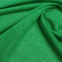 Фото 7 - Льняной трикотаж  цвет ярко-зеленый, лен 100.