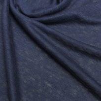 Фото 7 - Льняной трикотаж  цвет синий, лен 100.