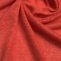 Фото 5 - Льняной трикотаж  цвет красный, лен 100.