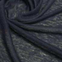 Фото 6 - Льняной трикотаж  цвет темно-синий, лен 100.