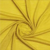 Фото 3 - Льняной трикотаж  цвет желтый, лен 100.
