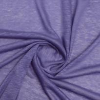 Фото 10 - Льняной трикотаж сиреневого цвета, лен 100%.
