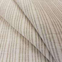 Фото 6 - Льняная ткань в узкую полоску лен 100% ширина 220 см.