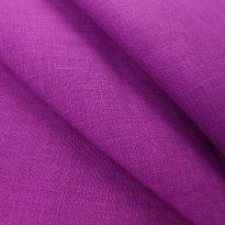 Фото 14 - Ткань льняная  фиолетовая, умягченная лен 100%.