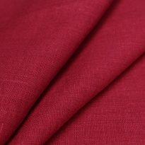 Фото 14 - Ткань льняная умягченная цвета брусники.