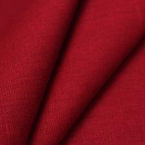 Фото 19 - Ткань льняная плотная красная.