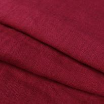 """Фото 15 - Ткань льняная умягченная цвета брусники с эффектом """"мятости""""."""