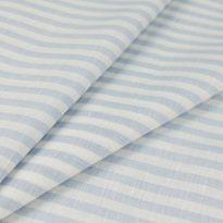 Фото 8 - Ткань льняная сорочечная голубая  полоска.