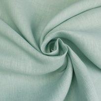 Фото 3 - Ткань льняная серо-ментоловая ширина 260 см лен 100%.
