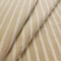 Фото 17 - Ткань льняная костюмная бежевая полоска, лён 100%.