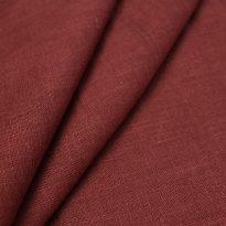 Фото 18 - Ткань лен 100% бордо умягченная.