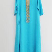 Фото 4 - Платье двухслойное украшенное шнурами льняное.