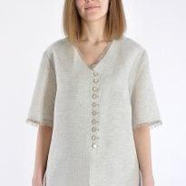 Фото 4 - Блуза льняная 001-01.