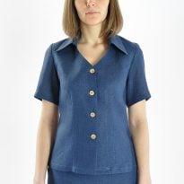 Фото 18 - Блуза льняная 014 короткая.