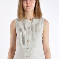 """Фото 22 - Блуза льняная 018 """"с защипами""""."""
