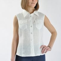 Фото 11 - Блуза льняная 007.