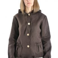 Фото 14 - Куртка-ветровка льняная женская 001.