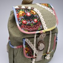 Фото 24 - Сумка льняная 27 рюкзачек.