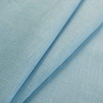 Фото 19 - Ткань костюмная нежно-голубая лен 100%.