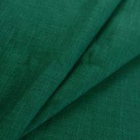 Фото 15 - Ткань льняная тонкая умягченная, цвет морской  волны.