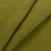 Фото 5 - Ткань льняная умягченная цвет хаки лен 100%.